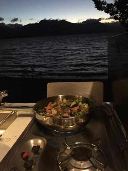 Cooking Dinner @ Campsite #1 - Lake Te Anau